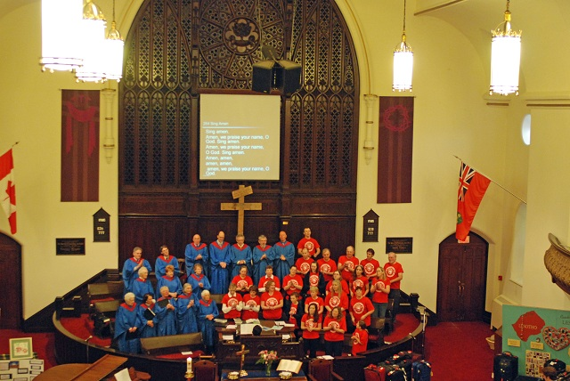 The Choir and the 2009 Team