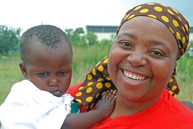 Hilda & Child at Rachel's Children's Home, Maputsoe, Lesotho