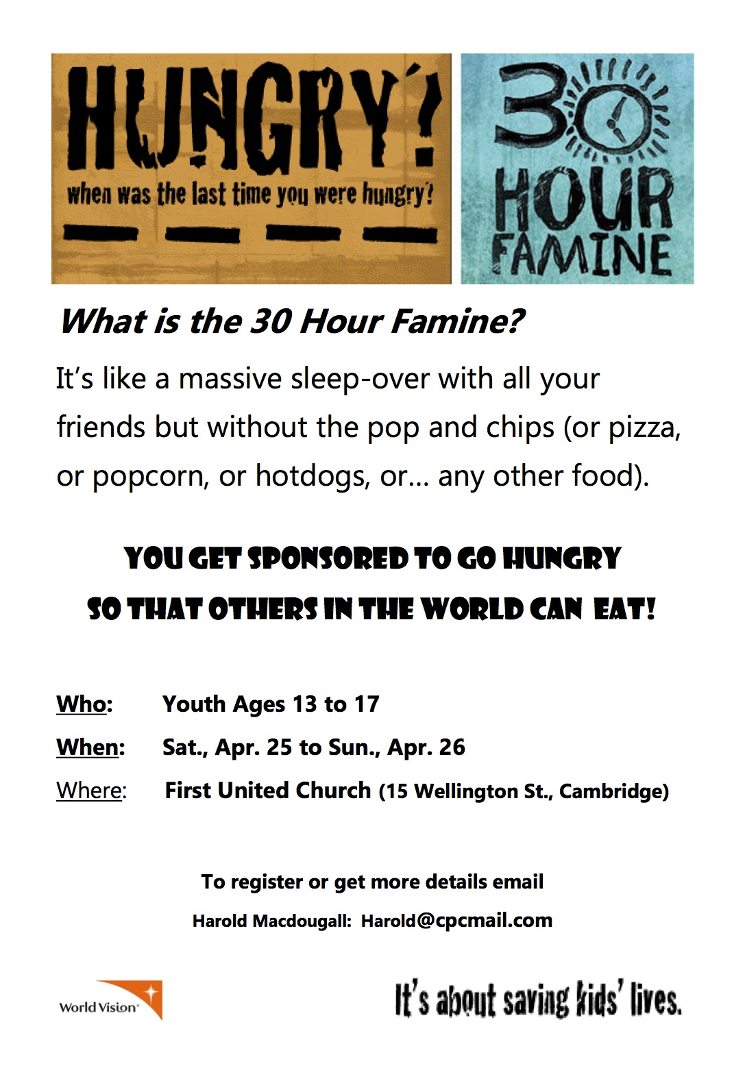 30 Famine! UPDATED! Signup Today!