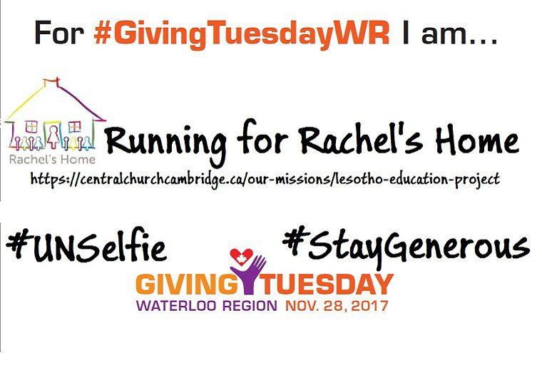 #GivingTuesday for Rachel's Home